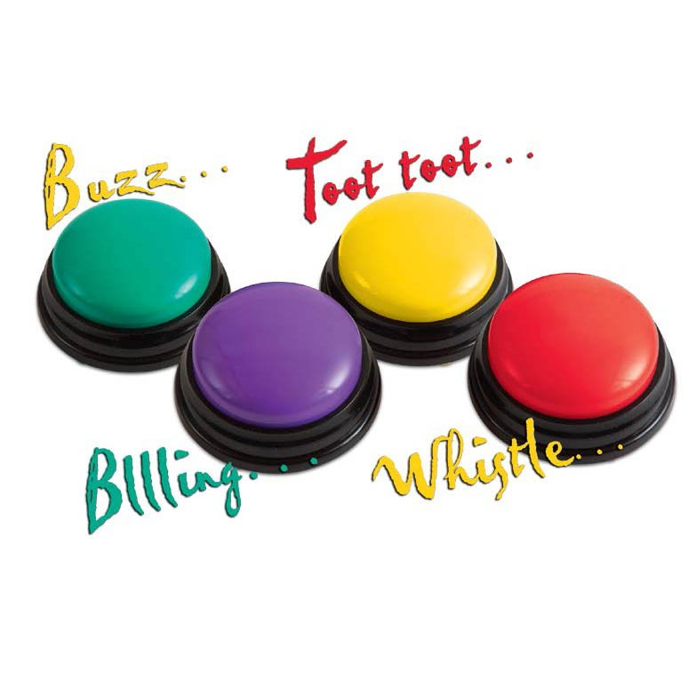 Super-Sound Answer Buzzers (set of 4) - 4 different FUN sounds